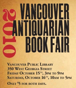Vancouver Antiquarian Book Fair